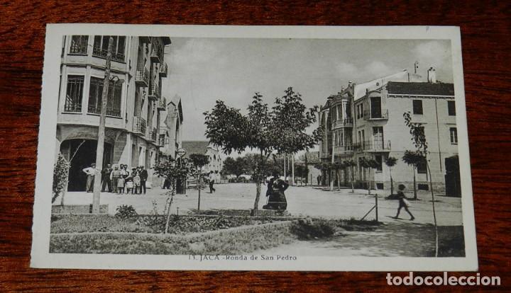 JACA (HUESCA) RONDA DE SAN PEDRO, EDIC. F. DE LAS HERAS 13, SIN CIRCULAR (Postales - España - Aragón Antigua (hasta 1939))