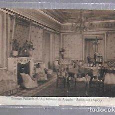 Postales: TARJETA POSTAL DE TERMAS PALLARES. ALHAMA DE ARAGON - SALON DEL PALACIO. Lote 121834903