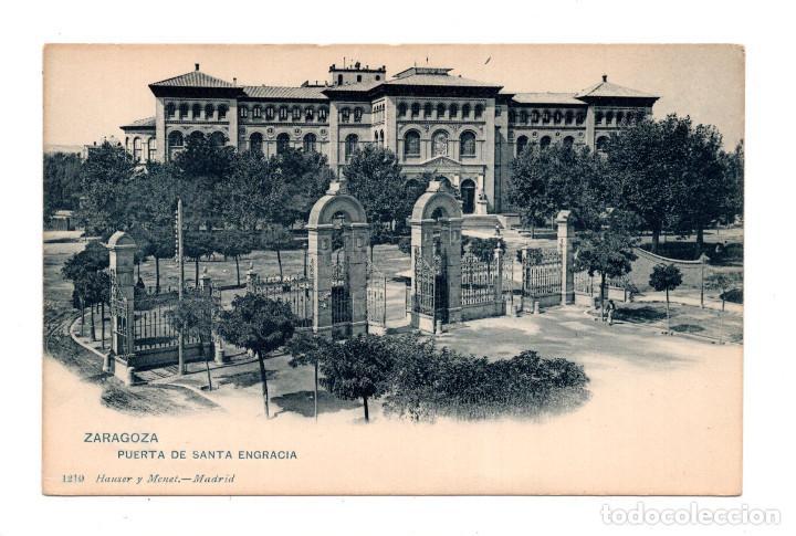 ZARAGOZA. - PUERTA DE SANTA ENGRACIA - ED. HAUSER Y MENET (Postales - España - Aragón Antigua (hasta 1939))