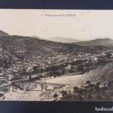 Postales: GRAUS - 1 VISTA GENERAL DE GRAUS , FOT. J. AGUILAR. Lote 122101735