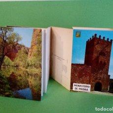 Postales: TARJETA POSTAL - MONASTERIO DE PIEDRA - 10 FOTOS A COLOR - DESPLEGABLE EN ACORDEÓN - SIN CIRCULAR.. Lote 123042171