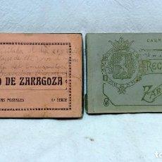 Postales: 2 ÁLBUMES POSTALES RECUERDO DE ZARAGOZA, DE 20 Y 18 POSTALES. NO ESCRITAS.. Lote 123198835