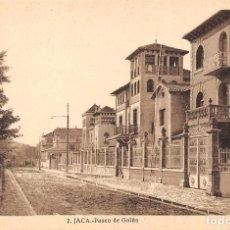 Postales: JACA (HUESCA).- PASEO DE GALÁN. Lote 123318683