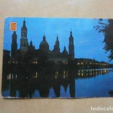 Postales: POSTAL ZARAGOZA, BASILICA DEL PILAR, NOCTURNA. Lote 124023491