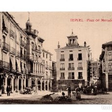 Postales: TERUEL. PLAZA DEL MERCADO. Lote 124324635