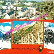 Postales: PIRINEO ARAGONÉS - VARIAS VISTAS (POSTAL SIN CIRCULAR) - AÑO 1963. Lote 47013919