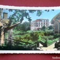 Postales: POSTAL DE ALHAMA DE ARAGÓN ( ZARAGOZA) JARDÍN CASCADA SAN ROQUE EL VIEJO. Lote 129428963