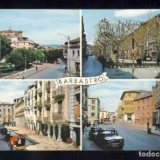 Postales: POSTAL DE BARBASTRO: 4 VISTAS (FOT.PEÑARROYA NUM. 1). Lote 131070676