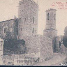 Postales: POSTAL PIERA - ESGLESIA DEL SANT CRIST - CASTELL DELS REIS D'ARAGO - ROISIN. Lote 131106768