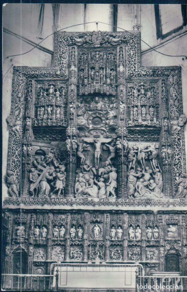 POSTAL HUESCA - CATEDRAL - ALTAR MAYOR - SICILIA (Postales - España - Aragón Antigua (hasta 1939))