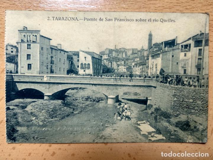 TARAZONA, ZARAGOZA. PUENTE DE SAN FRANCISCO SOBRE EL RIO QUEILES. EDICION MARTINEZ MORENO Nº2. (Postales - España - Aragón Antigua (hasta 1939))