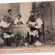 Postales: PS7995 ZARAGOZA 'COSTUMBRES ARAGONESAS. JUGANDO AL GUIÑOTE'. M. ARRIVAS. SIN CIRCULAR. Lote 133143150