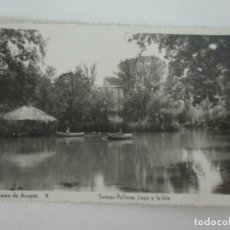 Postales: TARJETA POSTAL - ALHAMA DE ARAGÓN - TERMAS PALLARES, LAGO LA ISLA - ED ARRIBAS - CIRCULADA. Lote 134194246