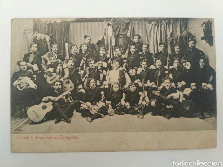 POSTAL TUNA O RONDALLA ZARAGOZANA, ZARAGOZA 1908. (Postales - España - Aragón Antigua (hasta 1939))