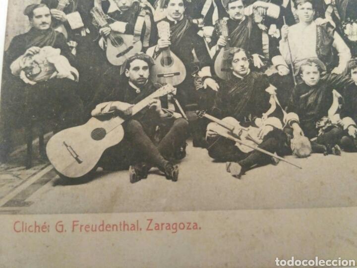 Postales: Postal tuna o rondalla zaragozana, Zaragoza 1908. - Foto 2 - 134220250