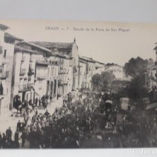 Postales: POSTAL ANTIGUA DETALLE DE LA FERIA DE SAN MIGUEL . GRAUS - HUESCA. Lote 134921538