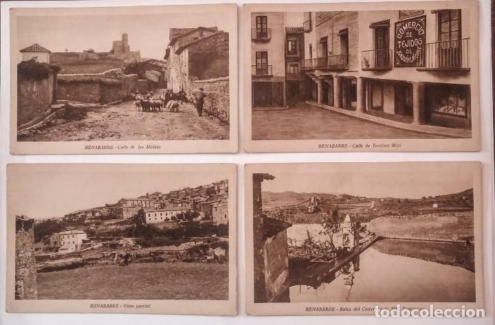 BENABARRE RIBAGORZA HUESCA ARAGÓN LOTE DE 4 POSTALES ANTIGUAS DE BENABARRE (Postales - España - Aragón Antigua (hasta 1939))