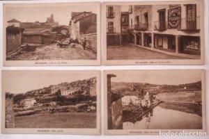 Benabarre Ribagorza Huesca Aragón Lote de 4 postales antiguas de Benabarre