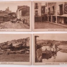 Postales: BENABARRE RIBAGORZA HUESCA ARAGÓN LOTE DE 4 POSTALES ANTIGUAS DE BENABARRE. Lote 135221414