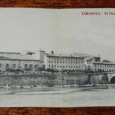 Cartes Postales: POSTAL DOBLE DE ZARAGOZA, RIVERA DEL EBRO, LA SEO, EL PILAR, ED. MADRIGUERA, NO CIRCULADA.. Lote 135666311