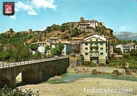 AINSA - 3224 VISTA PARCIAL - RÍO ASA (Postales - España - Aragón Moderna (desde 1.940))