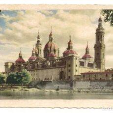 Postales - Zaragoza - Templo del Pilar, fachada posterior - Nº34 Ediciones García Garrabella - 135886806