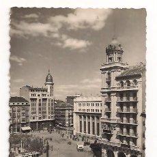 Postales: ZARAGOZA - VISTA PARCIAL DE LA PLAZA ESPAÑA - Nº55 EDICIONES GARCÍA GARRABELLA. Lote 135887378