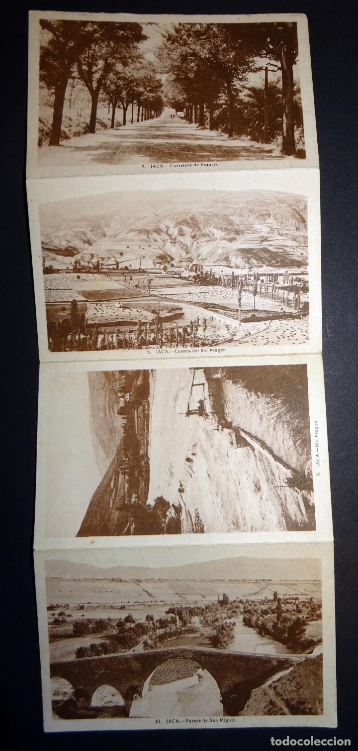 JACA, 4 ANTIGUAS POSTALES PLEGADAS EN ACORDEÓN SIN CIRCULAR. VER FOTOGRAFÍAS (Postales - España - Aragón Antigua (hasta 1939))