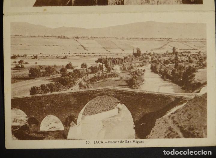 Postales: Jaca, 4 antiguas postales plegadas en acordeón sin circular. Ver fotografías - Foto 3 - 136270770