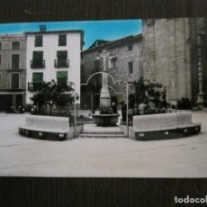Postales: MAS DE LAS MATAS - PLAZA Y FUENTE - EXCL· CARMELO MATEO - (53.410). Lote 136504794