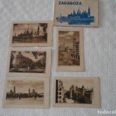 Postales: ZARAGOZA. LOTE DE 5 POSTALES ANTIGUAS. EDICIONES GARCIA GARRABELLA. IGLESIA DE SANTA ENGRACIA Y CALL. Lote 136834438