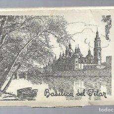 Postales: BLOC DE 10 FOTOGRAFIAS ANTIGUAS DE LA BASILICA DEL PILAR - ZARAGOZA FOTO- GARCIA GARRABELLA . Lote 137562954
