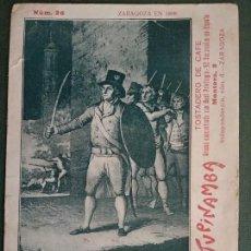 Postales: CENTENARIO DE LOS SITIOS DE ZARAGOZA. 1808-1809. MARIANO CEREZO. PUBLICIDAD TUPINAMBA TOSTADERO CAFE. Lote 137832974