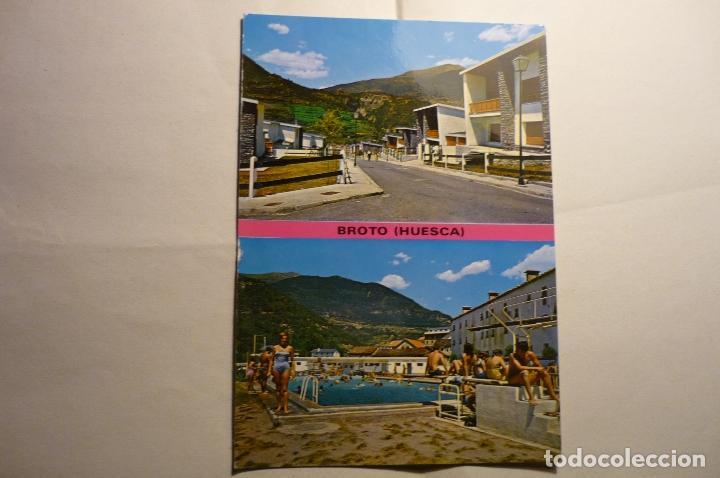 POSTAL BROTO .-VARIOS ASPECTOS (Postales - España - Aragón Moderna (desde 1.940))