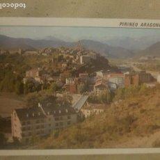 Cartes Postales: POSTAL DE AINSA, PIRINEO ARAGONES, VISTA GENERAL. AL FONDO EL MONTE PERDIDO, 1989.. Lote 139220190