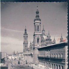 Postales: POSTAL ZARAGOZA - PLAZA DE NTRA SRA DEL PILAR - SICILIA 58 - ESCRITA. Lote 139943502