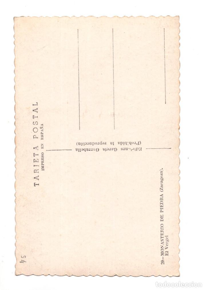 Postales: ZARAGOZA.- MONASTERIO DE PIEDRA - EL VERGEL - Foto 2 - 140497506