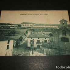 Postales: BARBASTRO HUESCA AVENIDA DEL HOSPITAL Y PLAZA DE TOROS. Lote 140527890