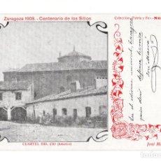 Postales: ZARAGOZA 1908 CENTENARIO SITIOS. CUARTEL DEL CID INTERIOR. COL. PATRIA Y FE. TEXTO JOSE MARVA. Lote 140531598