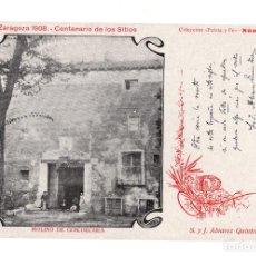 Postales: ZARAGOZA 1908 CENTENARIO D LOS SITIOS C. PATRIA Y FE MOLINO GOICOECHEA. TEXTO S Y J ALVAREZ QUINTER. Lote 140531734
