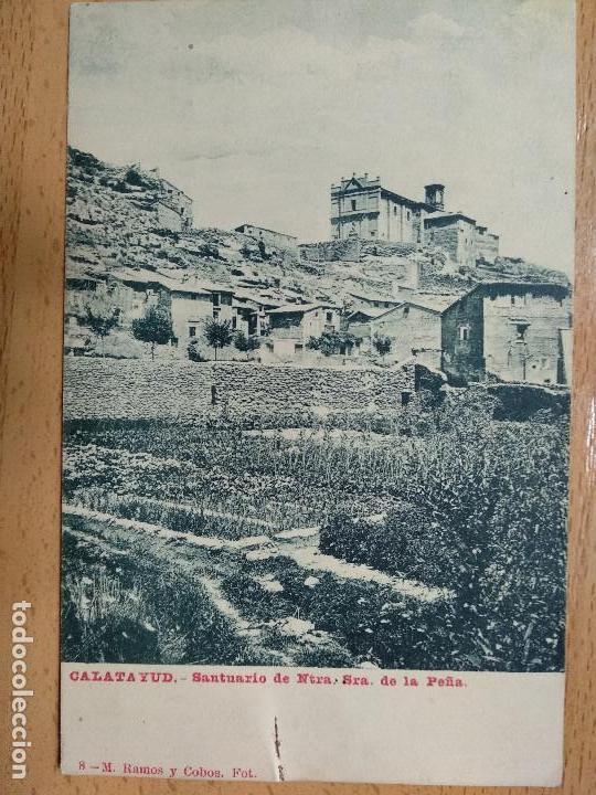 CALATAYUD. SANTUARIO DE NTRA. SRA. DE LA PEÑA . ED. M. RAMOS Y COBOS, 8. (Postales - España - Aragón Antigua (hasta 1939))
