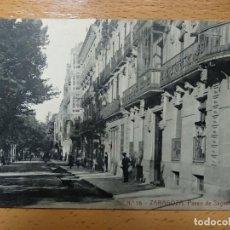 Postkarten - ZARAGOZA PASEO DE SAGASTA. THOMAS. PUBLICIDAD REVERSO JABONES LUIS SANZ.. - 140902774