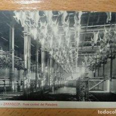Postkarten - ZARAGOZA NAVE CENTRAL DEL MATADERO. THOMAS. PUBLICIDAD REVERSO JABONES LUIS SANZ.. - 140903130