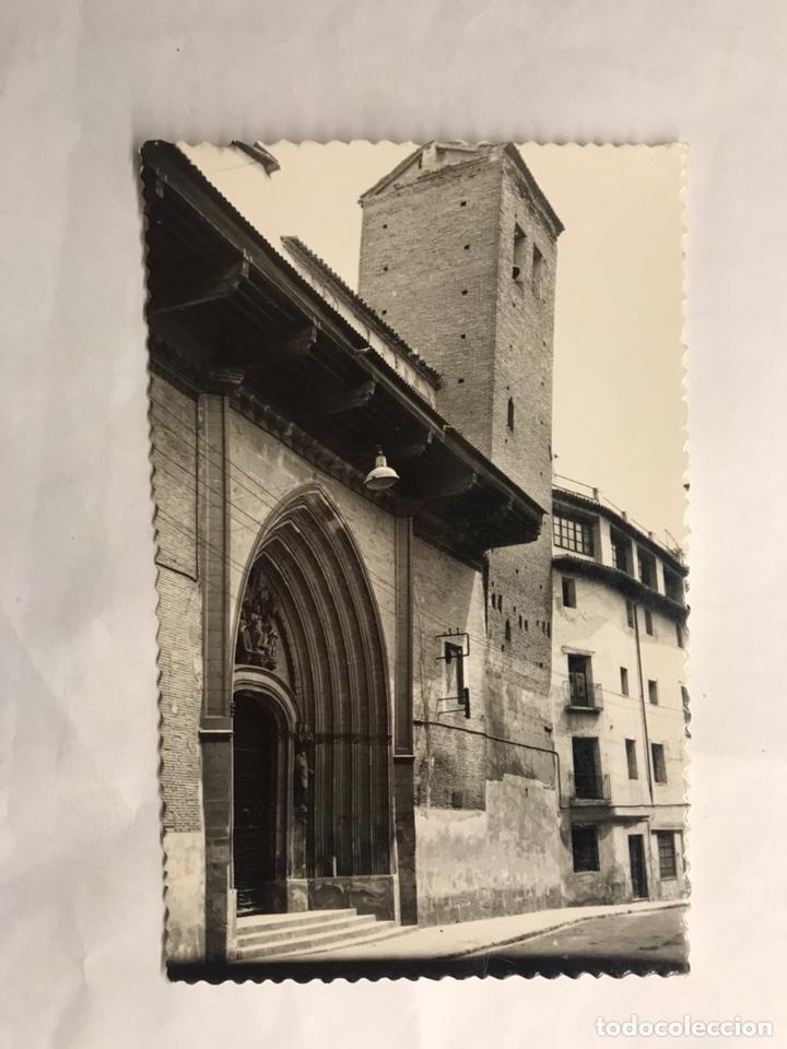 CALATAYUD (ZARAGOZA) POSTAL NO.12, FACHADA Y TORRE INCLINADA DE SAN PEDRO LOS FLANCOS. (H.1950?) (Postales - España - Aragón Moderna (desde 1.940))