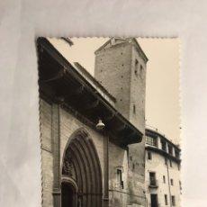 Postales: CALATAYUD (ZARAGOZA) POSTAL NO.12, FACHADA Y TORRE INCLINADA DE SAN PEDRO LOS FLANCOS. (H.1950?). Lote 140953797
