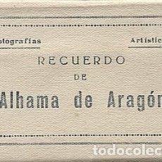 Postales: X120844 ARAGON RECUERDO DE ALHAMA DE ARAGON 8 FOTOGRAFIAS ARTISTICAS ESTACION SIN TREN TERMAS ETC.... Lote 143065490