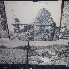 Postales: 11 ANTIGUAS POSTALES DEL PANTANO DE LA PEÑA, HAUSER Y MENET, 14 X 9 CM. LEER DESCRIPCION. Lote 143104538