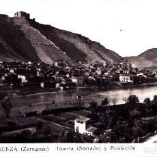 Postales: MEQUINENZA (ZARAGOZA) - HUERTA (SERRADO) Y POBLACION. Lote 143109826