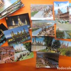 Postales: ZARAGOZA - 48 POSTALES ZARAGOZA - VARIAS CIRCULADAS 1967 Y 1973 CON SELLO. Lote 143192470