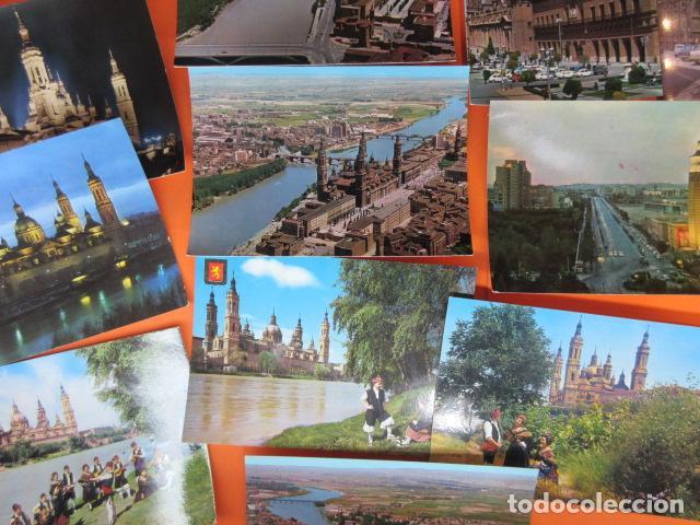 Postales: ZARAGOZA - 48 POSTALES ZARAGOZA - VARIAS CIRCULADAS 1967 Y 1973 CON SELLO - Foto 2 - 143192470